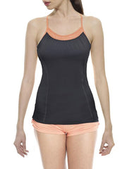 Bamboo Y-Back Tank - CARROT BANANA PEACH