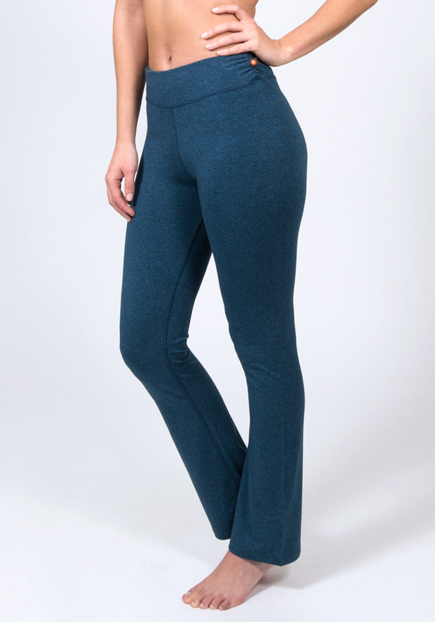 Bamboo Boot Leg Yoga Pant - CARROT BANANA PEACH