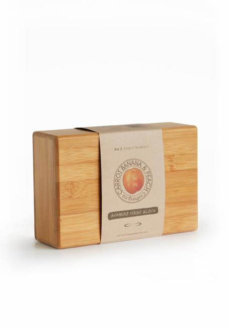 Carrot Banana Peach Block Natural Bamboo Block