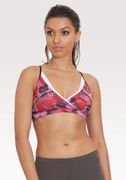 Carrot Banana Peach Bra XS / Strawberry Camouflage Yoga Retreat Spa Bra