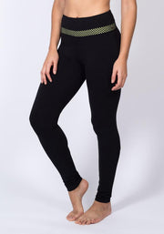 Carrot Banana Peach Leggings XL / Black Bamboo High Waist Yoga Leggings