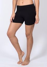 Carrot Banana Peach Shorts L / Black Bamboo Yoga Shorts