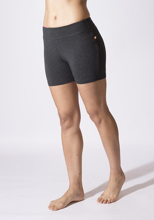 Carrot Banana Peach Shorts L / Graphite Heather Bamboo Yoga Shorts