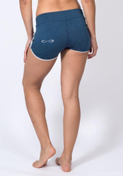 Carrot Banana Peach Shorts L / Navy Heather Bamboo Jogging Shorts