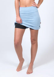 Carrot Banana Peach Shorts XS / Denim Heather Bamboo Sports Skort