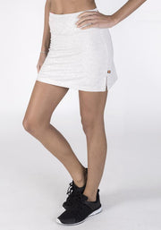 Carrot Banana Peach Shorts XS / Light Ash Heather Bamboo Sports Skort