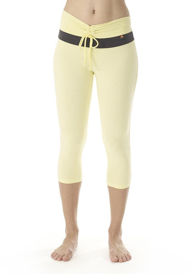 Clearance Items Capri XS / Honeydew Bamboo V Waist Capri Leggings