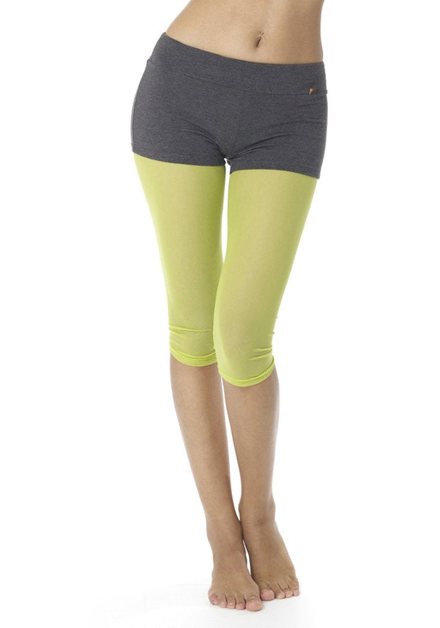 Clearance Items Capri XS / Lime Mesh Running Capris Leggings