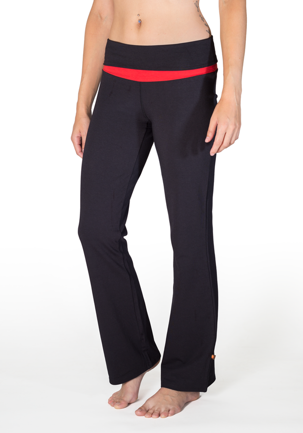 Clearance Items Pant L / Blackberry Bamboo Roll Down Yoga Pant