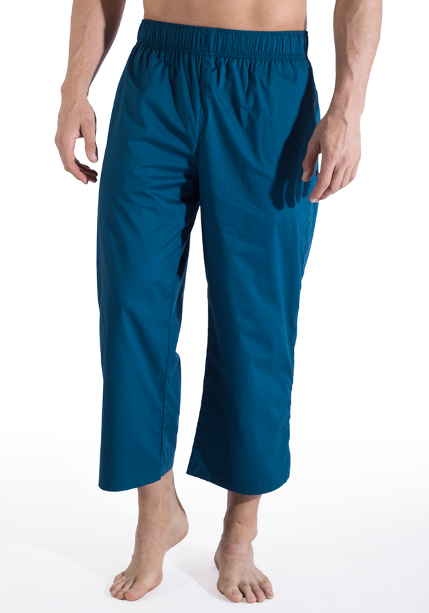 Clearance Items Pant S / Aqua Organic Cotton Poplin 3/4 Warrior Pants