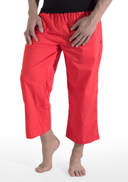 Clearance Items Pant S / Tomato Organic Cotton Poplin 3/4 Warrior Pants