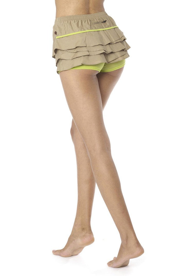 Clearance Items Short L / Honeydew Organic Cotton Poplin Float Skort