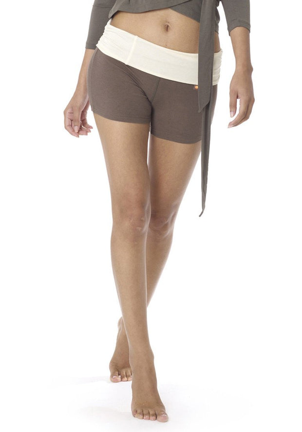 Clearance Items Short XS / Olive Bamboo Hatha Roll Down Shorts