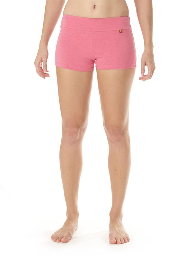 Clearance Items Short XS / Strawberry Heather Bamboo Hot Yoga Short
