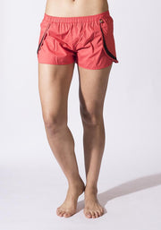 Clearance Items Short XS / Tomato Organic Cotton Poplin Running Shorts