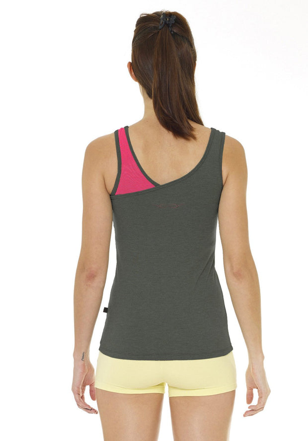Clearance Items Tank XS / Graphite Heather Bamboo Twister Tank