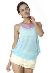 Clearance Items Tank XS / Ice & Honeydew Bamboo Reversible Mesh Tank