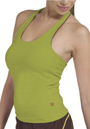 Clearance Items Tank XS / Lime Bamboo Halter Neck