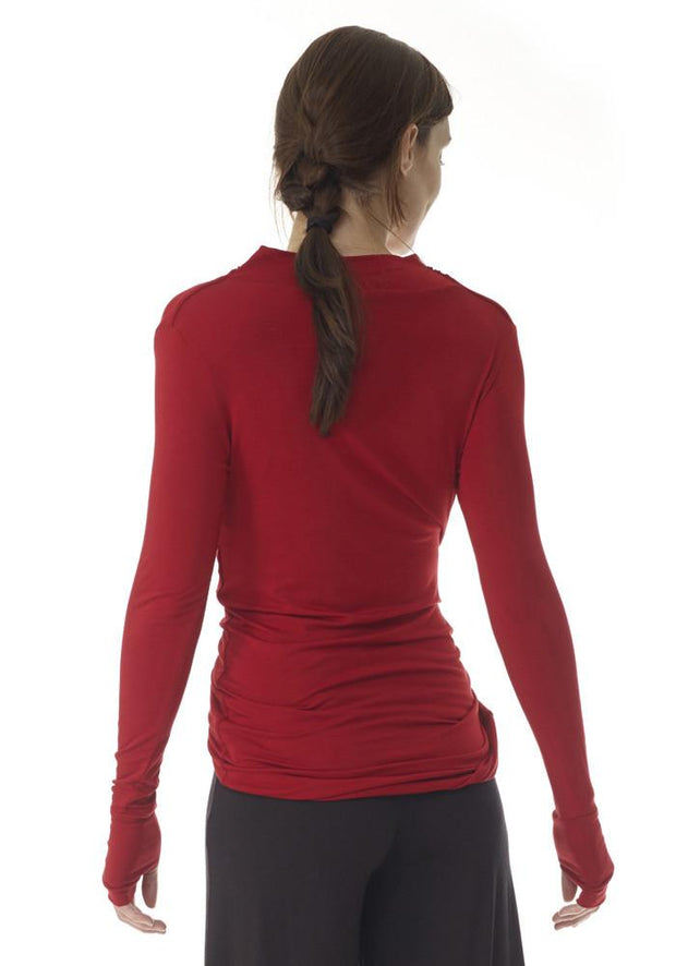 Clearance Items Wrap L / Blackberry Yoga Retreat Long Sleeve Top