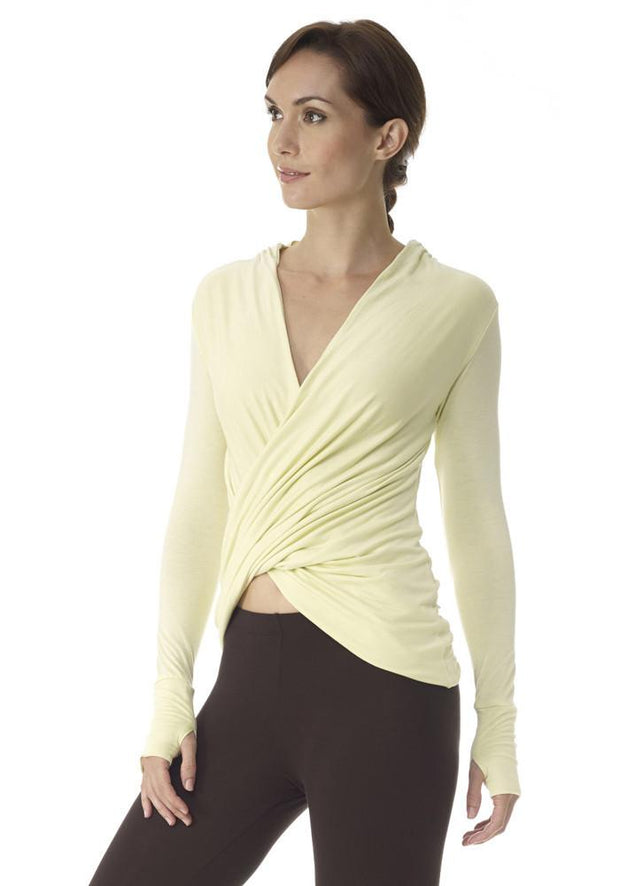Clearance Items Wrap XL / Honeydew Yoga Retreat Long Sleeve Top