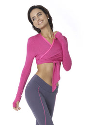 Clearance Items Wrap XS / Violet Banana Long Sleeve Cropped Wrap