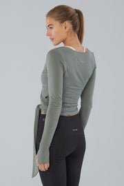 Soybean Long sleeve Yoga Wrap