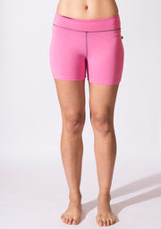 Bamboo Fitness Shorts - CARROT BANANA PEACH