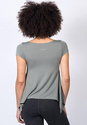Soybean Winged 2 Way Wrap T-Shirt - CARROT BANANA PEACH