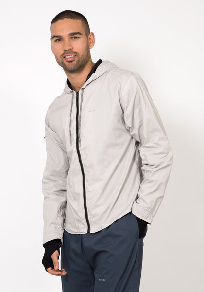 Organic Cotton Poplin Smart Running Jacket - CARROT BANANA PEACH