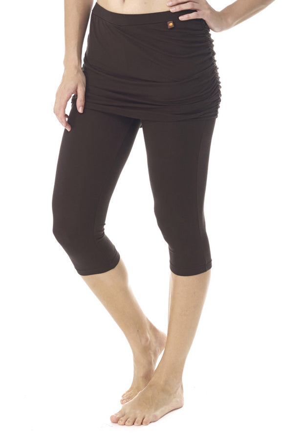 Aloe Vera Skort Capri Leggings - CARROT BANANA PEACH