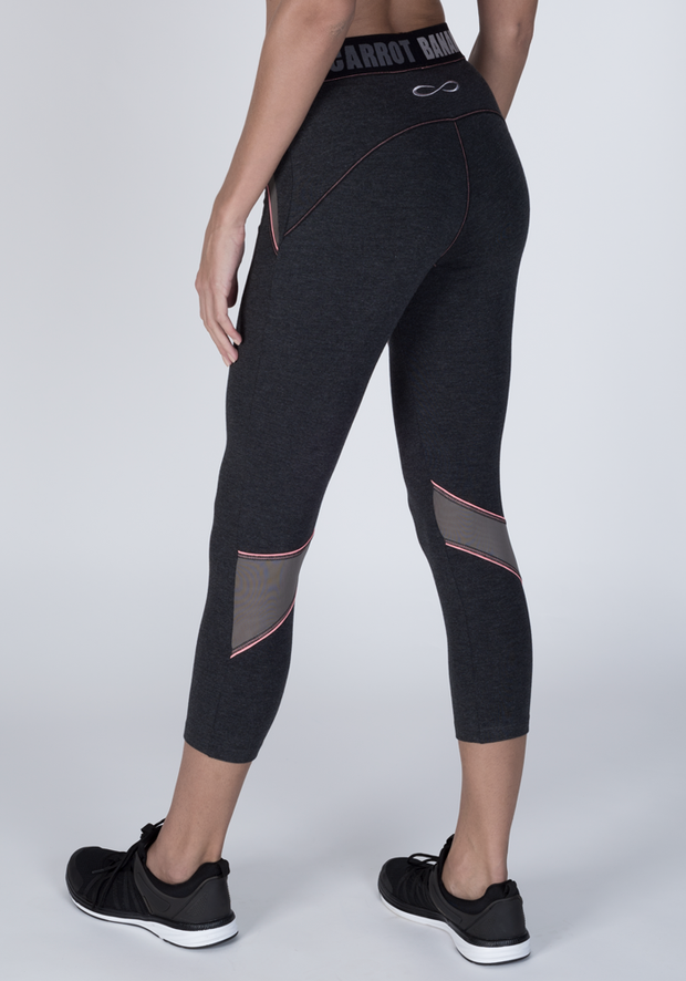 Bamboo Cropped Fitness Leggings - CARROT BANANA PEACH
