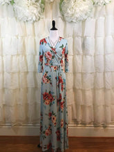 Saratoga Maxi Wrap Dress Light Blue Floral