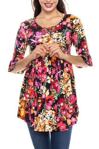 Flower Garden Tunic available in regular and PLUS- Brand New