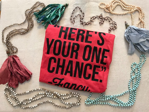 Here's your one chance Fancy Tee color is RED - Brand New
