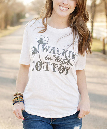 Walkin in high cotton tee- Brand New
