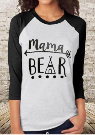 Mama Bear Tee Black Sleeves- Brand New