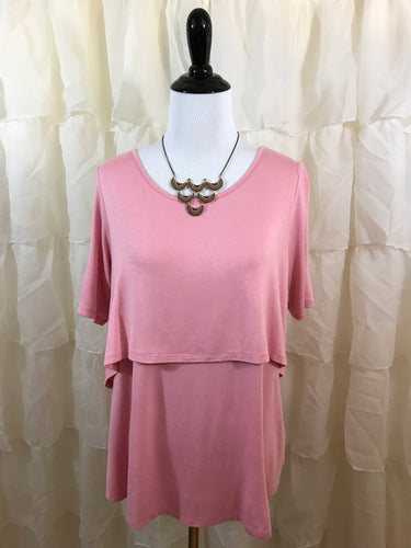 Cheyenne Two Tier Tee in pink