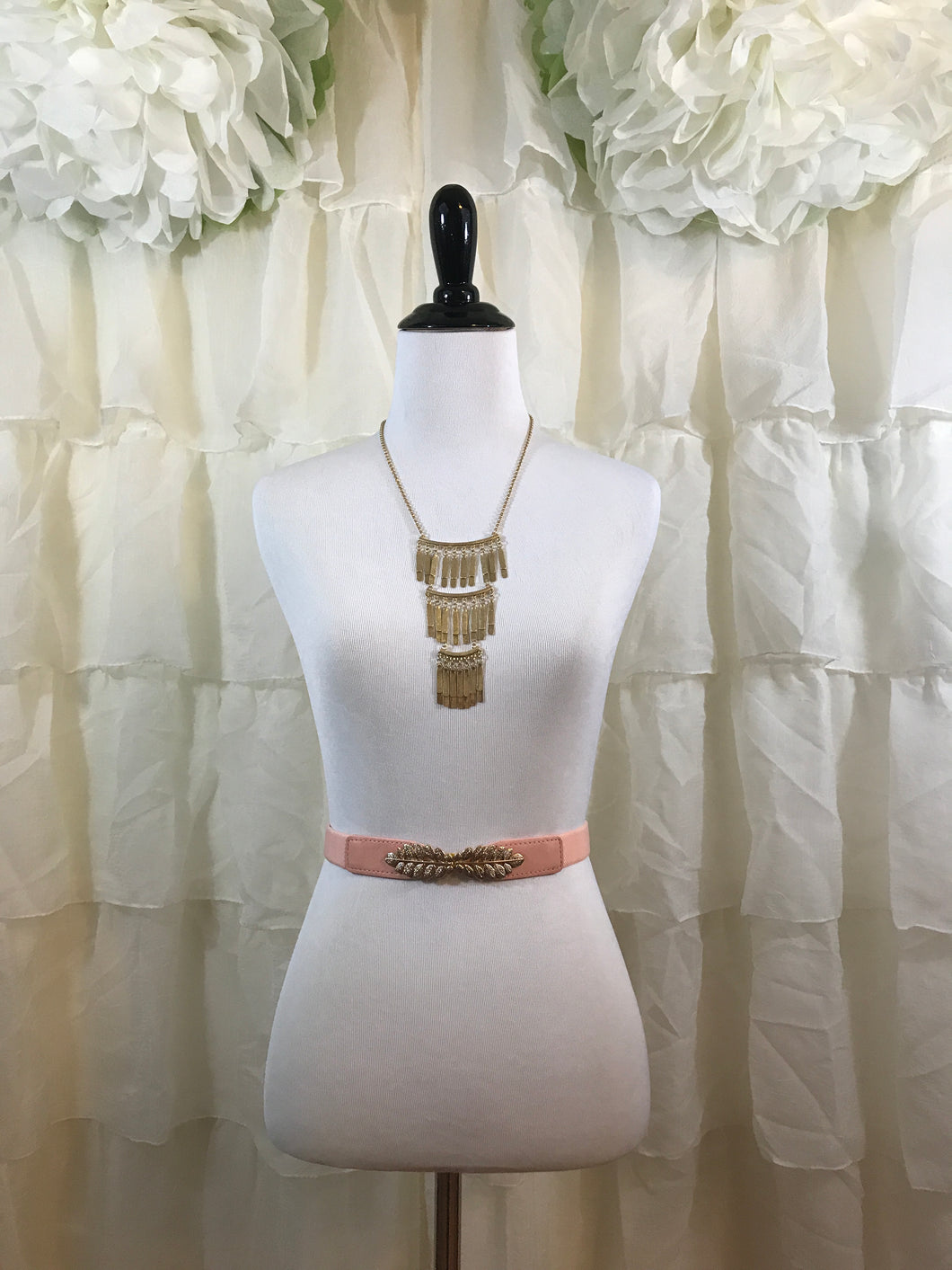 Peachy Pink Stretch Belt