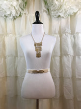 Cream Stretch Belt