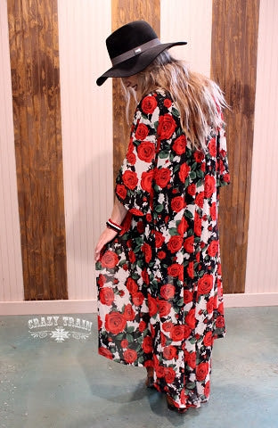 Red Rose Duster-Brand New