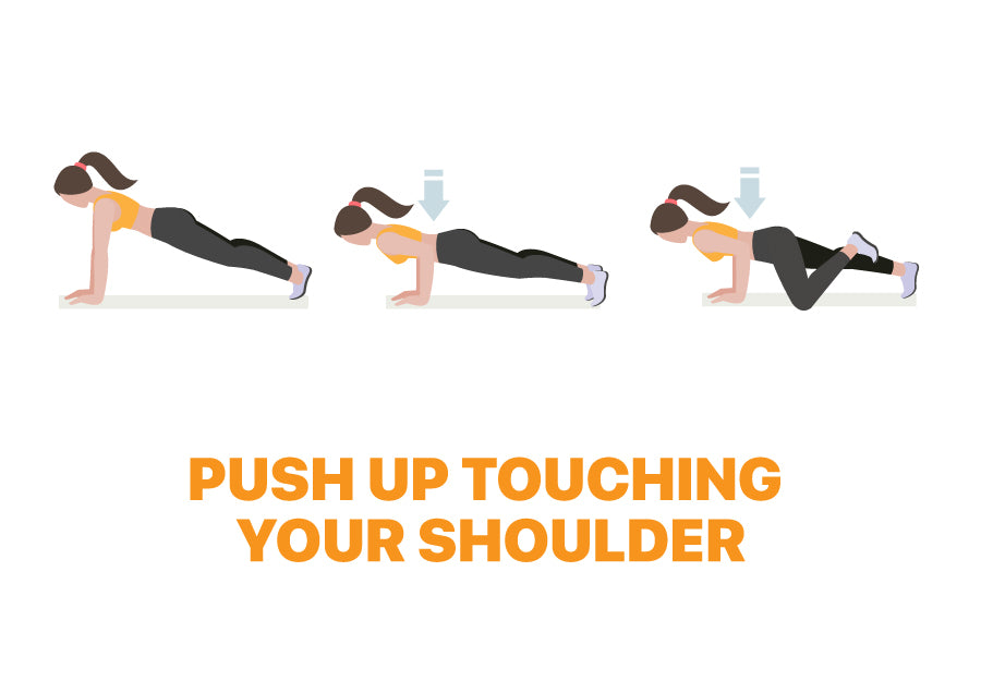 Push Up Touching Shoulder - Exercise for Lazy Days