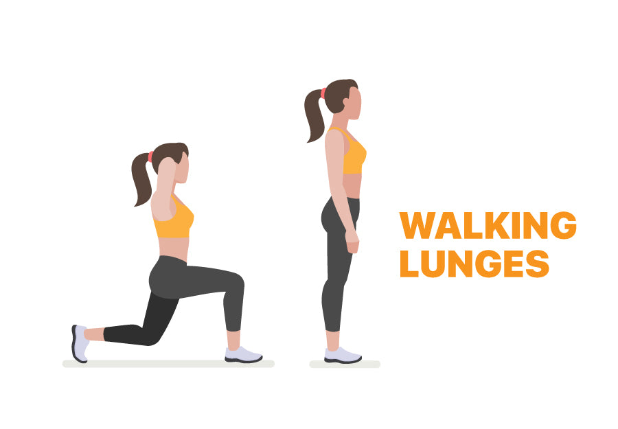Walking Lunges for Lazy Days