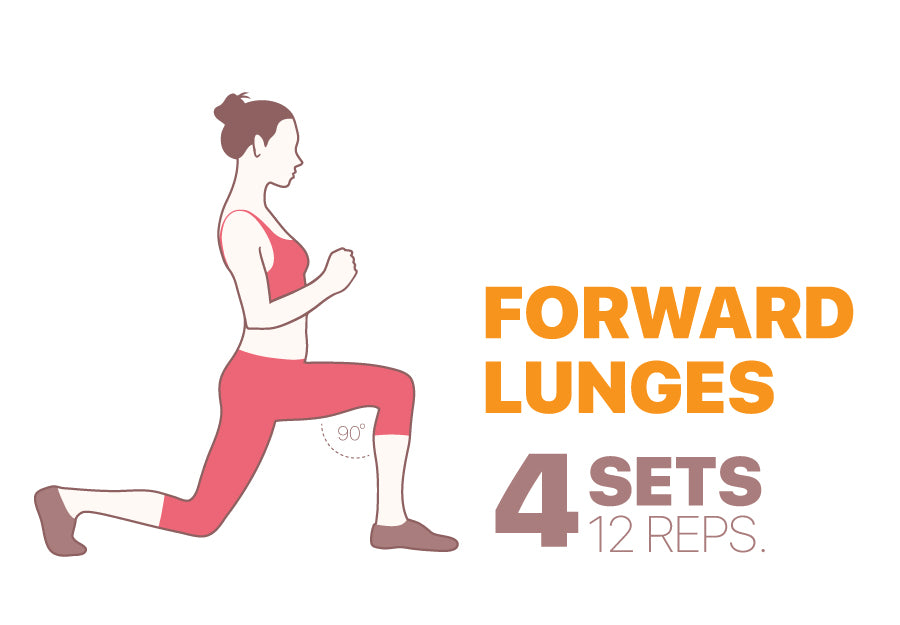 Leg exercised to do at home - Forward lunge!