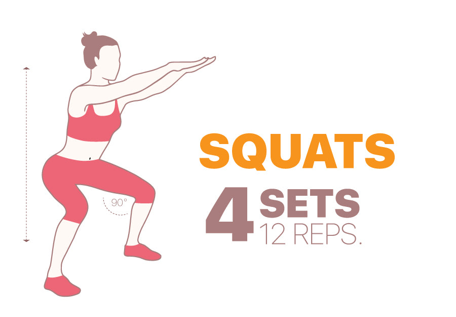 Leg exercises to do at home - squats