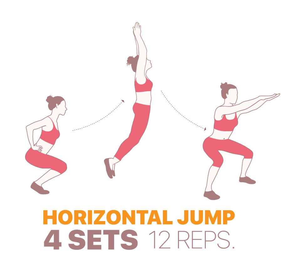Leg exercises to do at home - Horizontal Jump