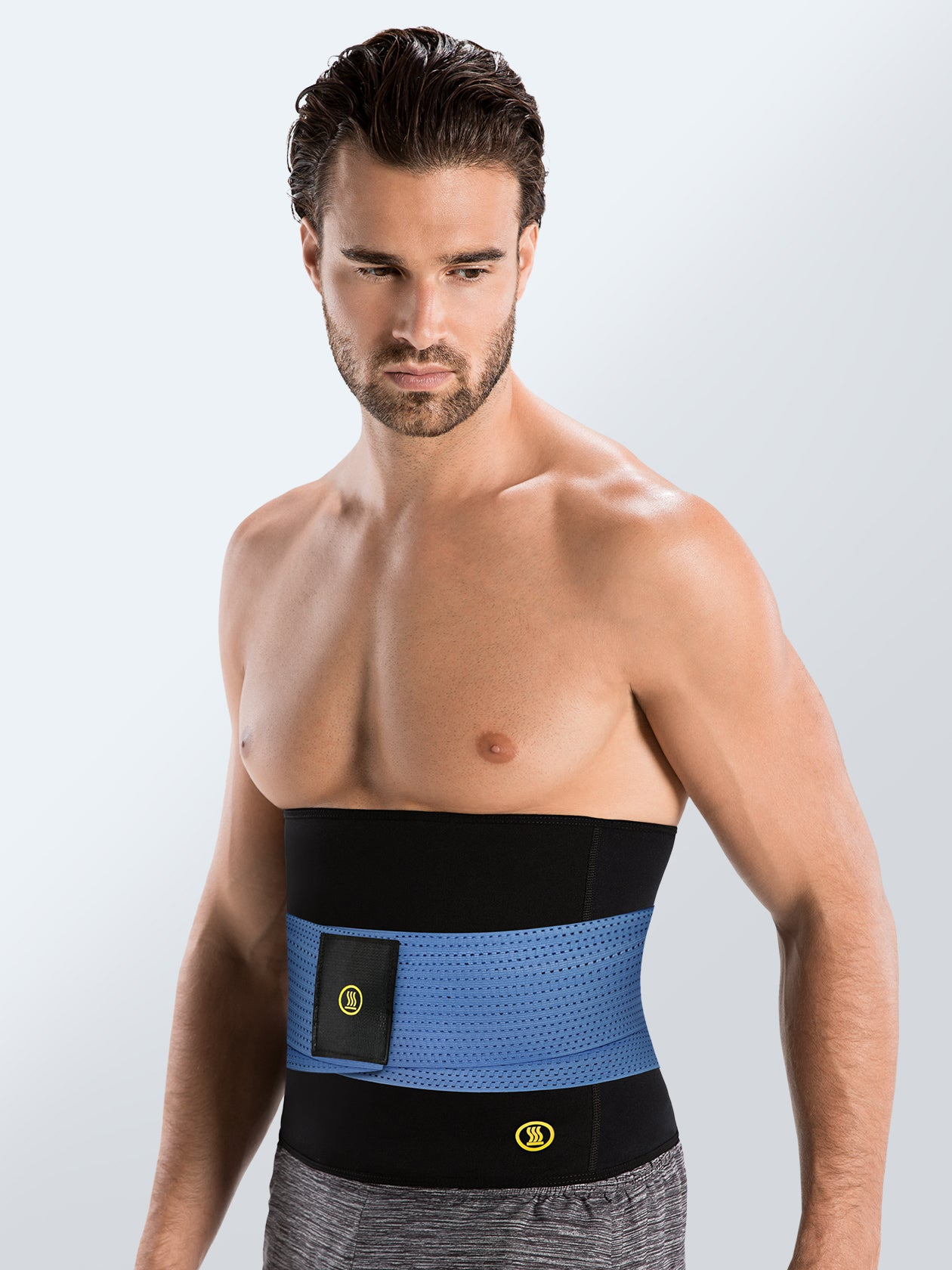 Hot Shapers - Hot Belt Men + Blue Waist trainer