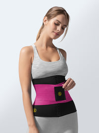 Hot belt waist cincher + pink waist trainer
