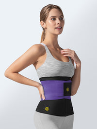 Hot belt waist cincher + purple waist trainer