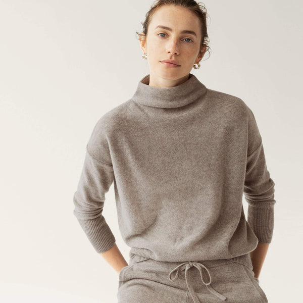 Long Sleeve Funnel Neck Pullover - THERESET