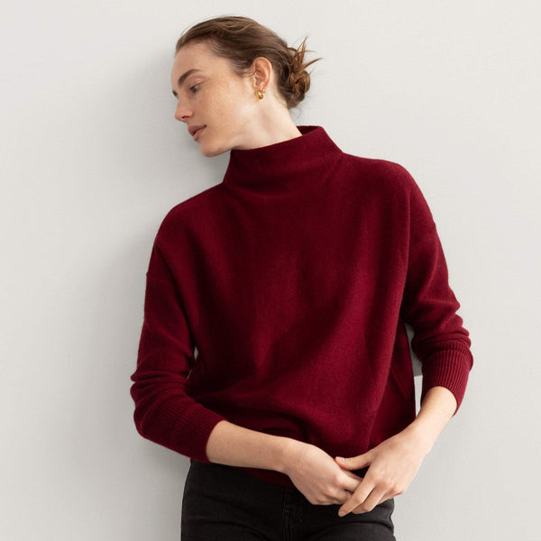 Long Sleeve Funnel Neck Pullover